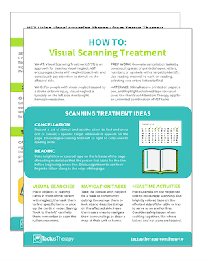 visual scanning treatment (VST) handout
