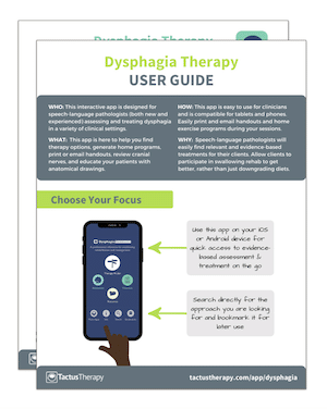 Dysphagia User Guide Tips preview