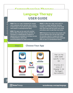 Language Therapy user guide handout preview