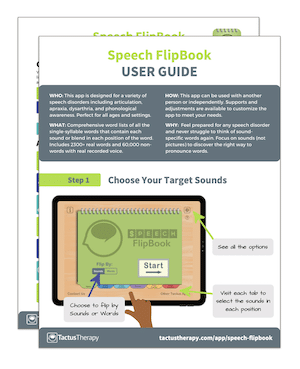 Speech FlipBook User Guide Tips preview