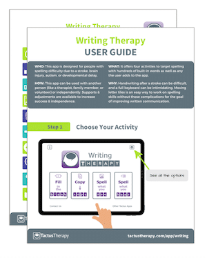 Writing Therapy User Guide Handout Preview