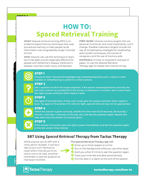 how to do spaced retrieval therapy preview