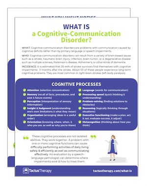 what is a cognitive communication disorder preview