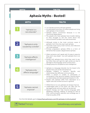 Aphasia Myths Busted preview