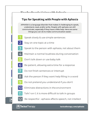 Aphasia Tips preview