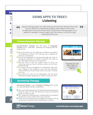 Using Apps to Treat Listening handout preview