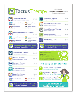 Tactus Therapy speech therapy-app brochure adults preview