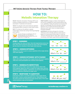how to melodic intonation therapy handout preview