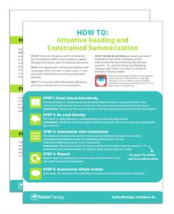 Attentive Reading & Constrained Summarization (ARCS) Handout