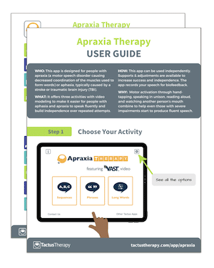 Apraxia User Guide Tips preview